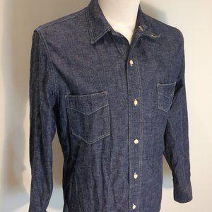 Levis Vintage Sunset Size M Chambray Indigo Shirt